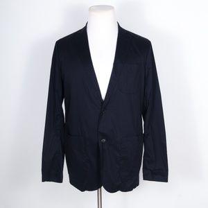 J. Lindeberg Navy Blue Packable Travel Blazer